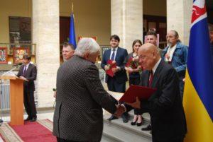 Професора Сергія Федаку нагородили відразу двома обласними преміями у галузі культури і мистецтва