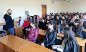 «Бордель для військових» презентували на факультеті іноземної філології