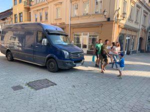 Пішохідна частина в Ужгороді не така і пішохідна (фото)