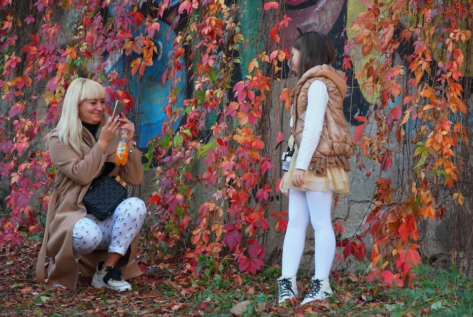 Осінній Ужгород грає різнокольоровими барвами