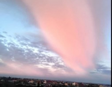 У небі над Виноградовом з'явилася цікава оптична ілюзія.