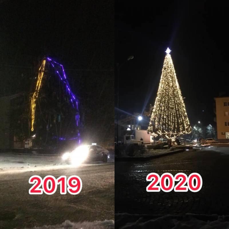 Новорічна ялинка у Сваляві готова до міських виборів (фото)