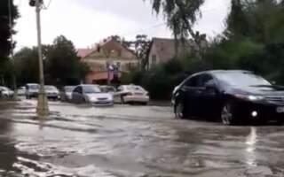 Собранецька в Ужгороді стала Венецією: вода затікає в авто (відео)