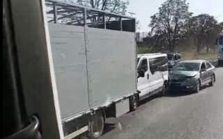 Відео потрійної ДТП в Тячеві