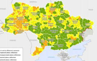В Україні оновили епідемічні зони: Закарпаття помаранчеве та жовте