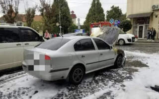 У Виноградові на ходу загорілася автівка (Фото)