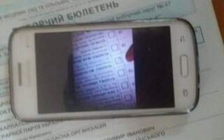 Вибори 2020: В Ужгороді затримали злочинця, який фотографував свій бюлетень