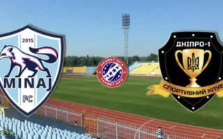 «Минай» у божевільному матчі з п'ятьма голами та вилученням переграв Дніпро-1
