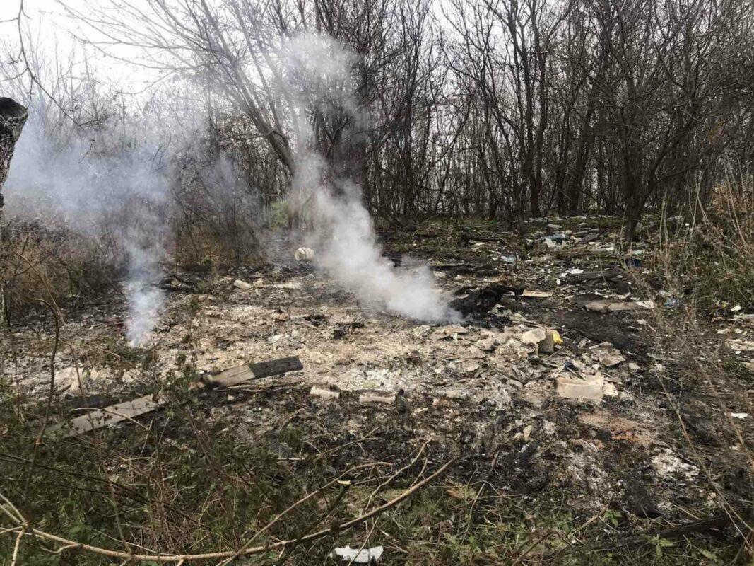 На Закарпатті на згарищі  випадкові перехожі виявили обгоріле тіло людини