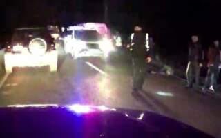 Відео. На Виноградівщині автівка збила велосипедиста