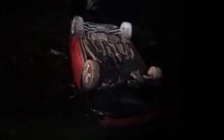 Нічне ДТП на Іршавщині: Авто злетіло в кювет (фото)