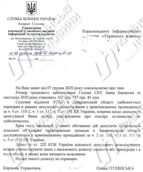 СБУ відкрила справу про держзраду через виконання гімну Угорщини депутатами на Закарпатті (ДОКУМЕНТ)