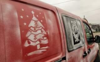 Закарпатець креативно тюнінгував своє авто до свят (ФОТО)
