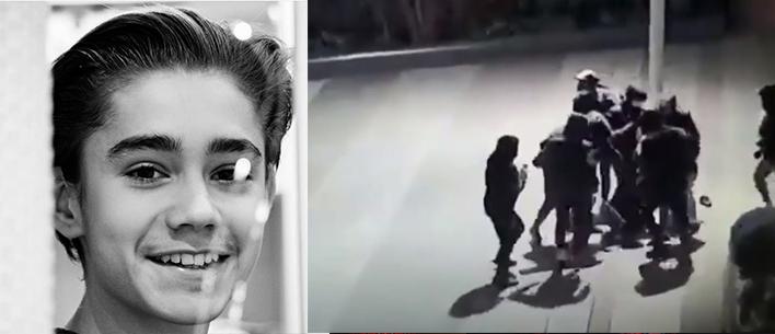 Хлопця, поваленого на землю, жорстоко б'є група підлітків. Вони застосовують холодну зброю, палиці, стрибають на голову жертви, – з'явилося відео звірячого побиття закарпатського підлітка в Парижі