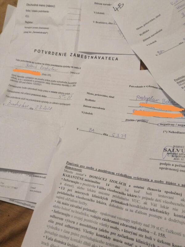 """""""Щотижневий тест на коронавірус, право на перебування або проживання в Словаччині, паспорт..."""", - жорсткий карантин у Словаччині"""