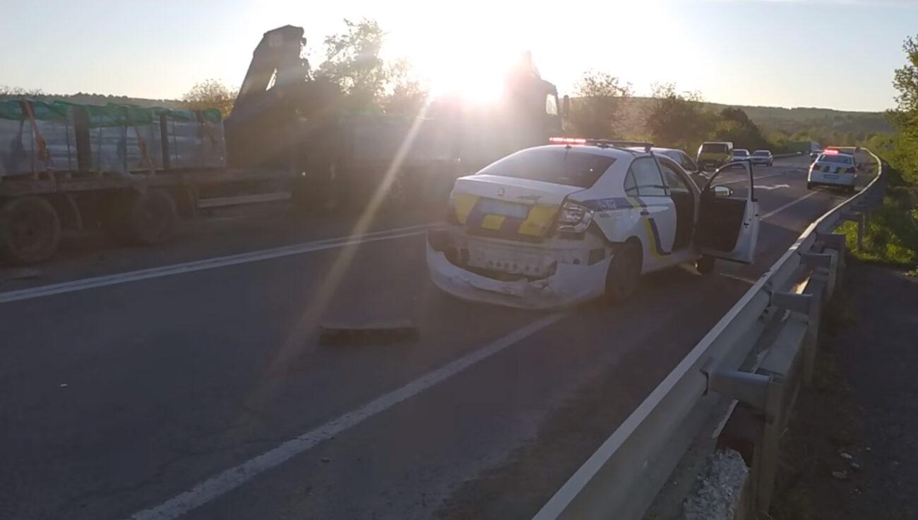 ДТП за участю поліцейських на Закарпатті (ВІДЕО)