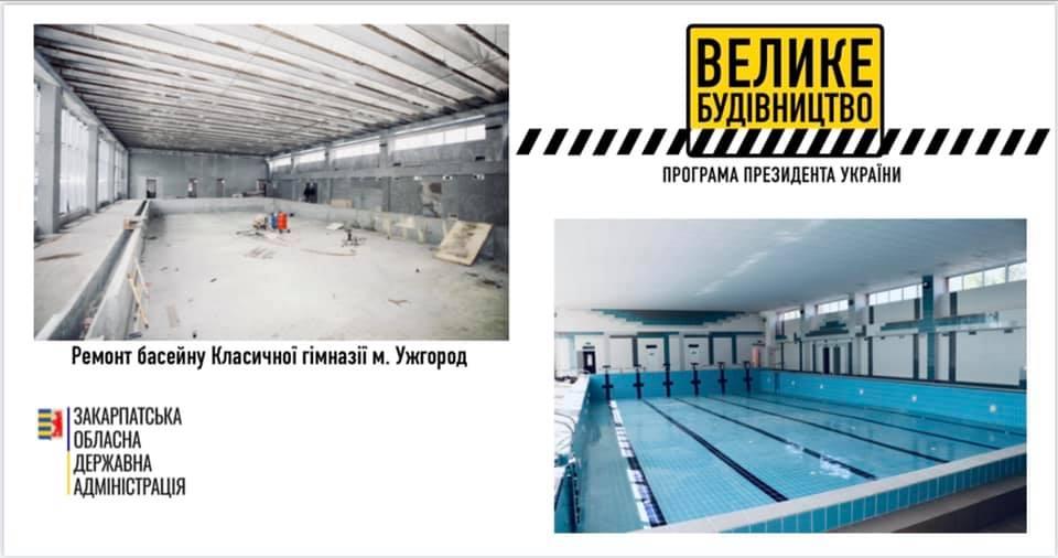Завтра в Ужгороді відкриють найбільший шкільний басейн