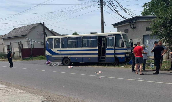 Важка черепно-мозкова травма: На Закарпатті автобус збив жінку (ФОТО. ВІДЕО)