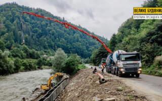 У Костилівці завершують бетонування підпірної стінки