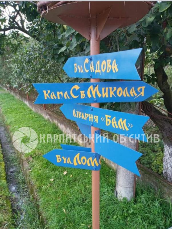 Вандали у Перечині понівечили вуличний вказівник із лелеками (ФОТО)